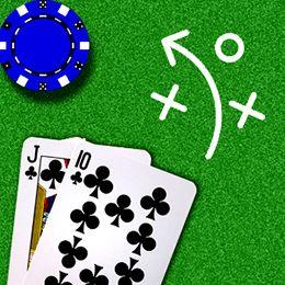 Blackjack-Kombination mit Strategie-Symbol