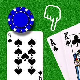 König, Ass, Neun und Hände Logo