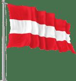 Flagge von Österreich auf Fahnenmast