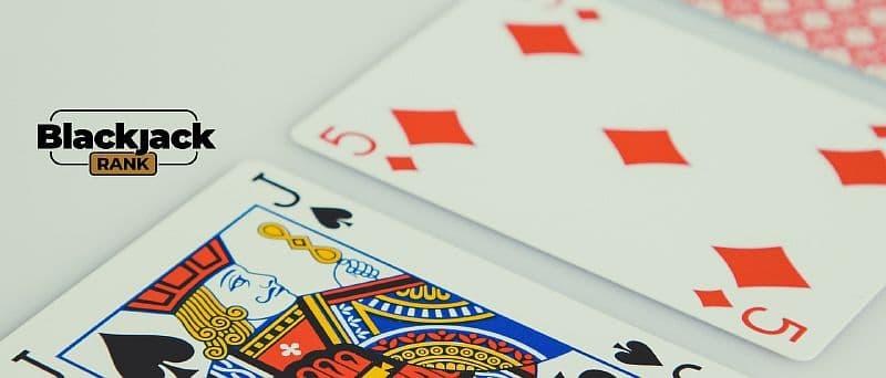 Spielkarten Jack und fünf