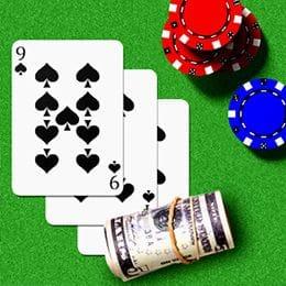 Banknoten auf Spielkarten